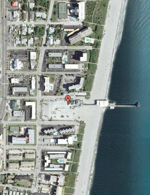 gay cocoa beach. Here is a Google Earth shot of the Cocoa Beach pier area.